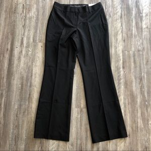 Ann Taylor Sz 8 Black Pants Curvy Trouser Leg New
